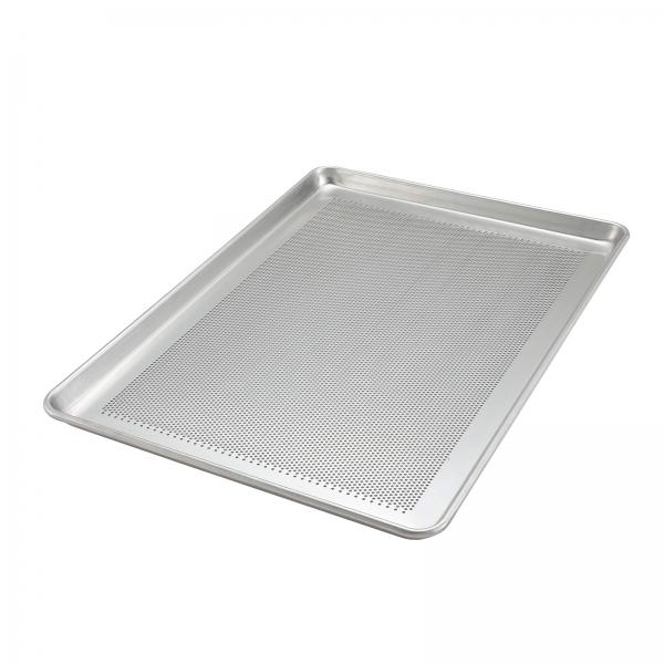 "Sheet Pan, full size, 18"" x 26"", perforated, 1/8"" dia. holes, closed bead, 18 gauge"