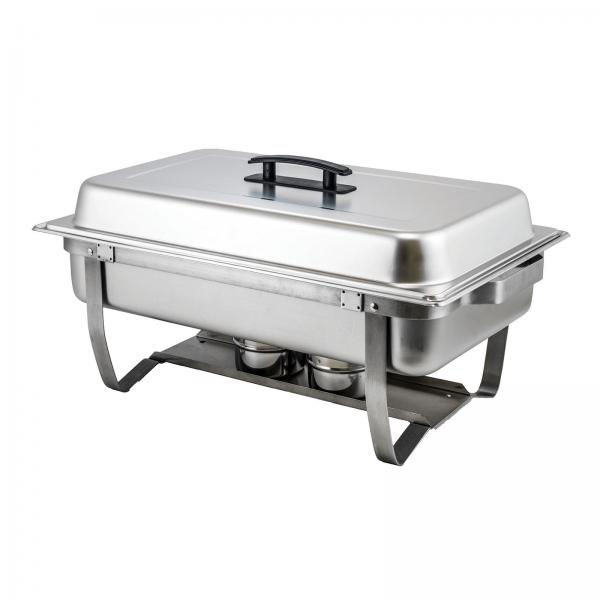 chafer 8 quart full size rectangular with folding stand builtin cover cli