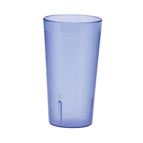 Tumbler, 12 oz., pebbled, break-resistant, dishwasher safe, plastic, blue (Qty Break = 6 dozen)