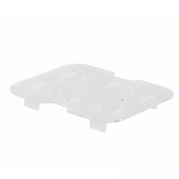 Poly-Ware™ Drain Shelf, sixth size, fits 1/6 size food pan, polycarbonate,