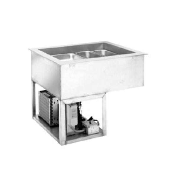 Hot/Cold Drop In Unit, 2-pan size, single tank with switch for hot or cold operation wit