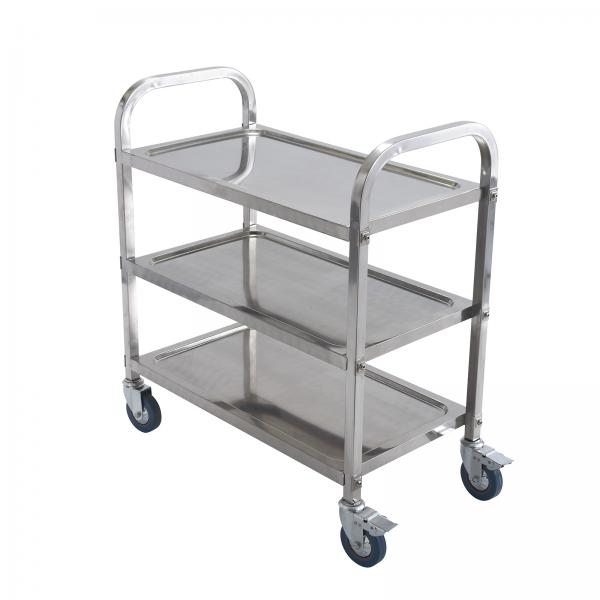 "Trolley, 3-tier, 30"" x 16"" x 33""H with wheels, (27""H without wheels&"