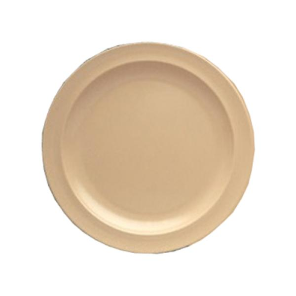 "Nessico Plate, 9"" dia., round, dishwasher safe, heavy weight, melamine, tan, NSF"