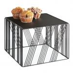 "Portland Riser, 12""W x 12""D x 9""H, square, removable bread board top, wire, black, BPA"