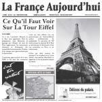 "Food-Safe Bag/Wire Cone Basket Liner, double-open, 7"" x 7"", paper, French newspaper white"