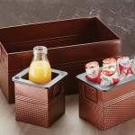"Beverage Tub, 1/3 size, 12-1/4"" x 6-1/4"" x 6""H, galvanized with"