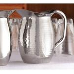 "Bell Pitcher, 44 oz. (1.4 qt.), 4-1/2"" dia. x 8-1/8""H, double wall insulated, hammered"