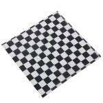 "Fry Paper, 12"" x 12"", black checkerboard (1,000 each per pack)"