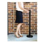 "Securit® Smoker Pole, 15"" diameter base x 40"" high pole, screw off tops, free"