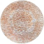 "Charger Plate, 13"" dia, glass, Lined Design, Decorative Rose Gold (hand wash only)"