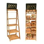 "Cutting Board Display Rack, 27""W x 27""D x 72""H, (5) shelves, Northern Hard Rock Maple"