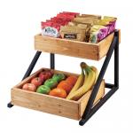 "Madera Merchandiser Rack, 16-1/2""W x 15-1/2""D x 12""H, 2-tier, (2) removable trays"