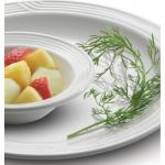 "Entree Plate, 9"" dia., round, dishwasher safe, embossed, America white (12 each per case)"