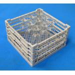 "Lamber Dishwasher Open Glass Rack, 15-1/2""W x 15-1/2""D x 9""H, plastic, gray"