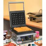 "Sodir-Roller Grill Waffle Baker, electric, single, cast iron plates, ""Brussels"" plate"