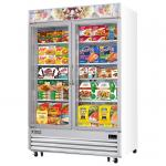 Reach-In Glass Door Ice Cream Freezer, two-section, 48.0 cu. ft. capacity, bottom mounted
