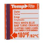 Taylor® Dishwasher Temperature Label, target temperature of 180°F, the label indicates