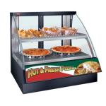 Flav-R-Savor® Heated Display Case with Humidity, Curved Glass, countertop design, (2) pan