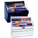 "Impluse Open Merchandiser, 39""W, 44"" H, black exterior & interior, self-contained"