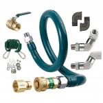 "Royal Series Moveable Gas Connection Kit, 3/4"" I.D., 48"" long, stainless steel corrugated"