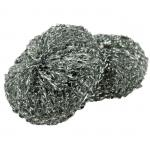 "Scrubbers, 3"" dia. x 1""H, round, rust-free, stainless steel (2 each per pack)"