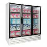 "Full-Height Freezer Merchandiser, 70.2 cubic feet, 78"" W, (3) auto-close hin"