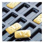 "Flexipan® Financiers Mold, 24 per sheet, 2 oz. cap., 3-1/2""L x 1-7/8""W x 1/2""H"
