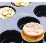 "Flexipan® Tatin Apple Tarts/Quiches Mold, 12 per sheet, 8 oz. capacity, 4"" dia. x"