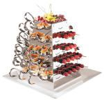 "APS Buffet Display, 8 5/8"" x 8 5/8"" x 12 1/8"", with 48 Tasting Spoon"