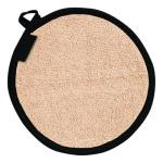 "Pot Holder, 8"" diameter, round, protects to 500°F, heavy duty, hanging loop, machine"