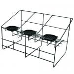 "Airpot Serving Rack, 22"" x 14"" x 13"", 3-compartment, removable black drip trays"