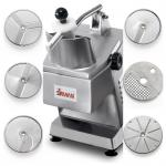 (40752558W6) Food Processor with 6-Pack Plates, electric, continuous feed operation, belt driven