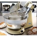 Spiral Dough Mixer/Kneader, 10 quart stainless steel rotating bowl, transparent bowl cover, helical