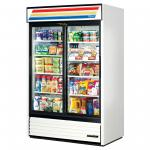 Refrigerated Merchandiser, two-section, (8) shelves, laminated vinyl exterior&#4