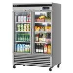 Super Deluxe Glass Door Refrigerator, two-section, 44.14 cu. ft., self-contained, self-cleaning