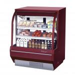 "Deli Case, refrigerated, high profile, 48-1/2"" W, 16.2 cu. ft., curved front tempered glass"