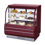 "Bakery Case, non-refrigerated, 48-1/2"" W, 15.6 cu. ft., curved front tempered glass, sliding"