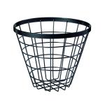 "Vector™ Food Serving Basket, 8"" dia. x 5""H, round, wire, metal gray"