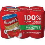 Case is 8-33 FLUID OUNCE Campbell′s Tomato Juice  Kosher  5.5 Ounce Cans - 6 per Pack - 8 per