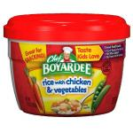 Case is 12-7.25 OUNCE Chef Boyardee Rice with Chicken & Vegetables  7.25 Oz. (Pack of 12)