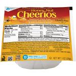 Case is 96-1 OUNCE Honey Nut Cheerios Whole Grain Oats Cereal  1 Ounce per Bowl - 96 per Case