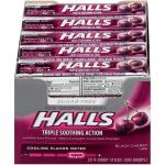 Case is 24-20-.002 POUND Halls Sugar Free Black Cherry Cough Drops  9 Pieces - 20 per Pack - 24