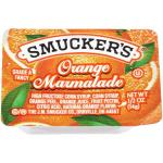 Case is 200-.5 OUNCE SMUCKER 1/2 OUNCE ORANGE MARMALADE PLASTIC SMUCKER 1/2 OUNCE ORANGE MARMALADE