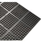 "Floor Mat, 3′ x 3′ x 1/2"" thick, anti-fatigue, interlocking, rub"