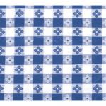 "Table Cloth, 52"" x 52"", square, pvc material with cotton lining, blue checke"