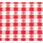 "Table Cloth, 52"" x 52"", square, pvc material with cotton lining, red checker"