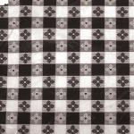 "Table Cloth, 52"" x 52"", square, pvc material with cotton lining, black check"